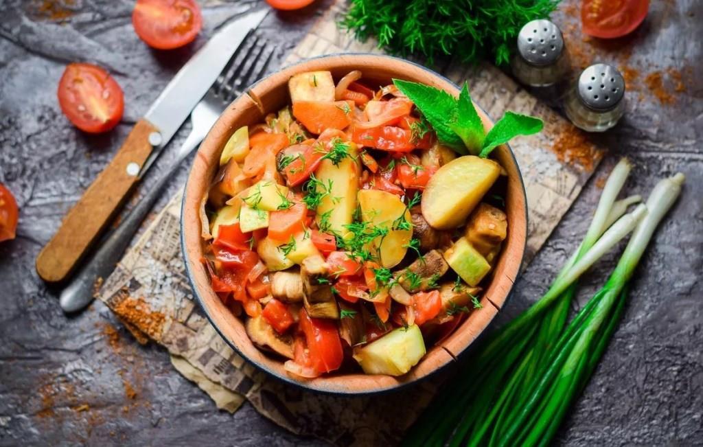 калорийность овощного рагу
