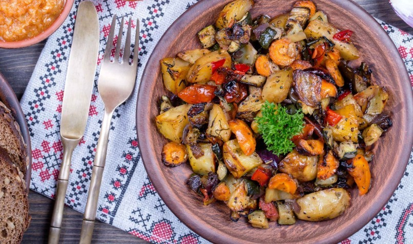 овощное рагу калорийность на 100 грамм