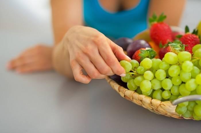 Калорийность винограда зеленого кишмиш на 100 грамм: польза и вред, сколько содержится сахара, белков, жиров и углеводов