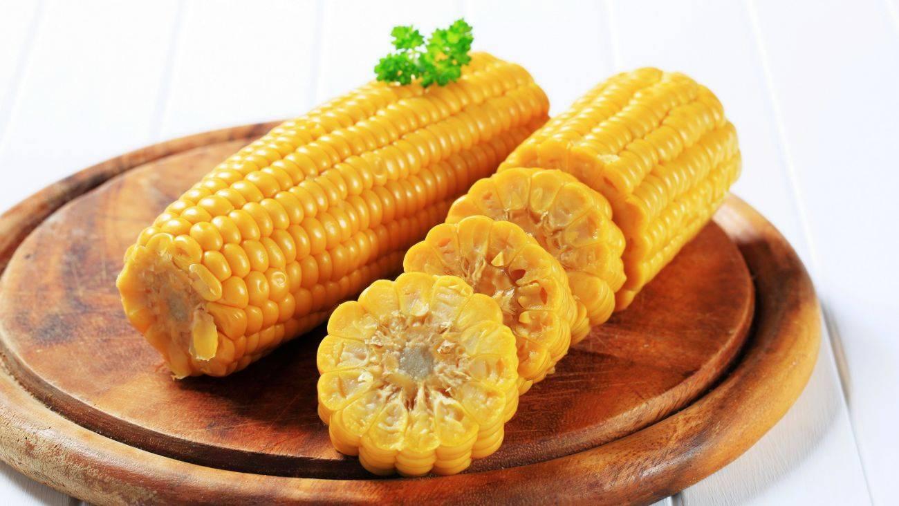 Кукуруза вареного