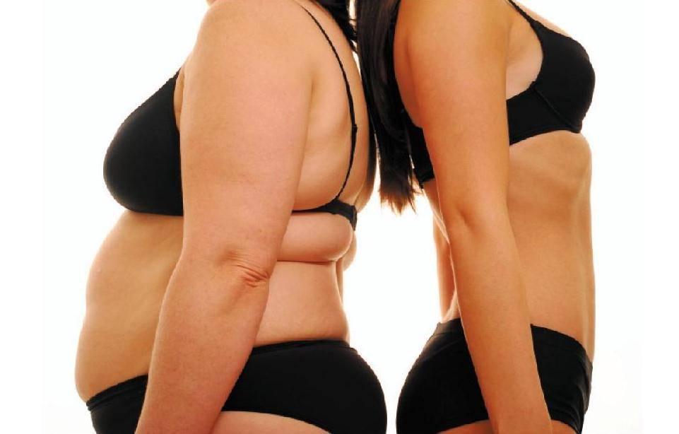 Толстая и худая женщина