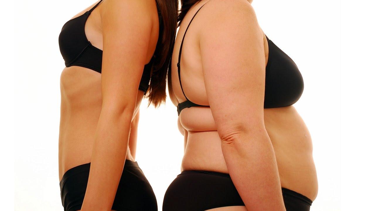 Стройная и толстая женщина