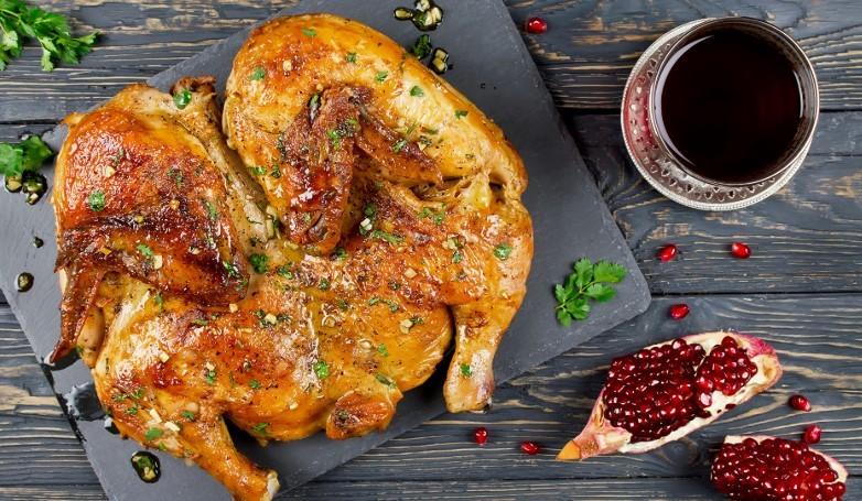 курица в духовке калорийность