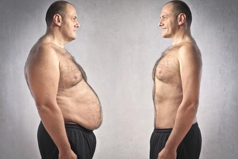 Большой живот у мужчины